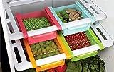 #6: Floraware Plastic Refrigerator Storage Rack Set, Set of 1, Multicolour