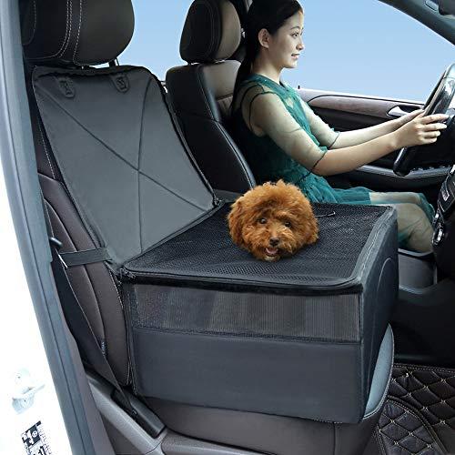 YMNL Seggiolino Auto per Cane, Trasportino Auto per Cani, Coprisedile per Cane, Coprisedile Anteriore Singolo, Coperta Telo per Proteggere Sedile di Automobile per Animali Domestici, Coprisedile