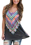 EOZY Women Colorful Dreams Tank Loose Fitted Blouse - Best Reviews Guide