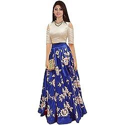 Ecolors Fab Semi Stitched Women's Lehenga (SDK Series_2001_Free Size) (navy blue)