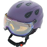 Casco de esquí Alpina Grap Visor HMunisex con visera, deep-violet matt, 57-61
