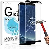 Galaxy S8 Panzerglas Schutzfolie,Yica 9H Härtegrad 3D HD Blasenfrei Anti-Kratzer Ultra Klar Panzerglasfolie Hartglas Gehärtetem Glas Displayschutzfolie für Samsung Galaxy S8