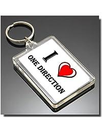 I HEART ONE DIRECTION PORTE CLÉ - I LOVE ONE DIRECTION KEYRING