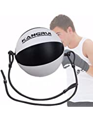 Ballon de Boxe en PU de Bonne Qualité,SGODDE Ballon de Frappe Double Attache Designe Magnifique, Portable et Confortable, Idéal pour Sport de Combat, MMA, Entraînement de Vitesse ou Détente
