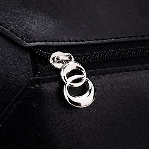 Kroo Pochette Portefeuille en Cuir de Femme avec Bracelet Étui pour Maxwest Gravity 5,5 noir - Noir/rouge noir - Black and Blue