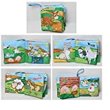 #5: Kids Farm Animal Theme Cloth Book with Bright Color Pictures Toddler Baby Learning Toys