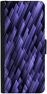 Snoogg Abstract Violet Background Graphic Snap On Hard Back Leather + Pc Flip...