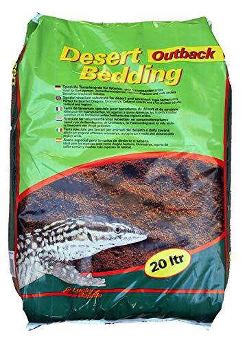 """Lucky Reptile DBO-20 Desert Bedding \""""Outback rot\"""" 20 Liter, Bodengrund für Wüstenterrarien, grabfähig"""