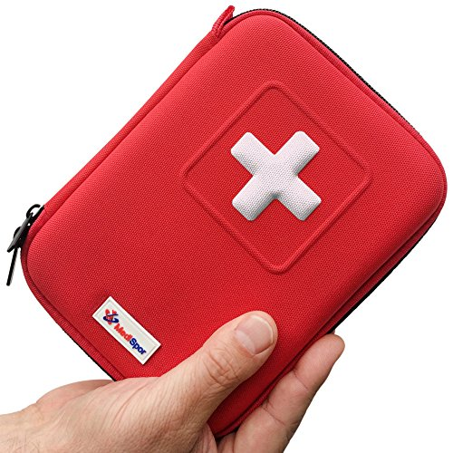MediSpor 100-Piece First Aid Kit, Red Hard Case