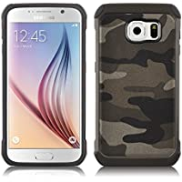 JAMMYLIZARD | Cover custodia Heavy Duty ARMY in TPU per Samsung Galaxy S7, MARRONE