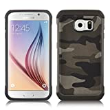 [ Samsung Galaxy S7 Cover ] - Funda JammyLizard Army Diseño Camuflaje Heavy Duty Case, MARRÓN