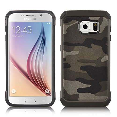 JAMMYLIZARD | Cover custodia Heavy Duty ARMY in TPU per Samsung Galaxy S6, (Army Camouflage Pattern)