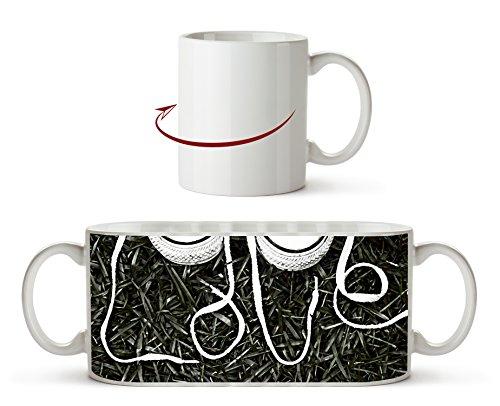 Love Sneaker Schnürsenkel Effekt: Zeichnung als Motivetasse 300ml, aus Keramik weiß, wunderbar als...