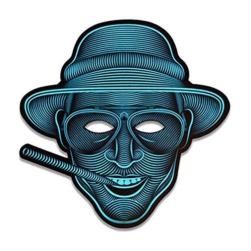 Festival Kostüm Musik - JYCRA Halloween LED Scary Maske, Musik LED Party Maske Cosplay Glow Light up Masken, Ideal für Kostüm, Party, Festival, Cosplay, Duke, 9.8 * 6.7 inch