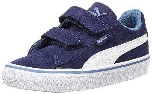 Puma 1948 Vulc, Unisex-Kinder Sneakers, Low-Top Sneaker, Blau (Peacoat/White), 23 EU (Puma Schuhe Kleinkind)