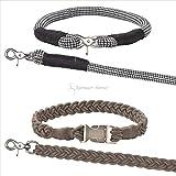 ESKADRON Hundehalsband und Leine (CS ltd.SS17), chocochip, L