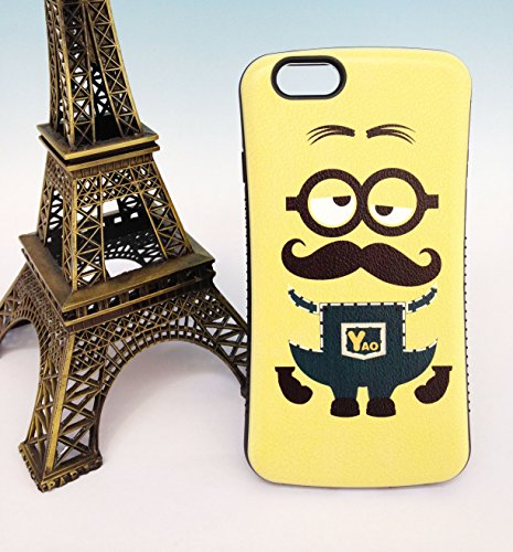 Étuis pour iPhone, iFace MINIONS choc absorbante protection pare-chocs Etui Housse pour Apple iPhone 6/6S, MINION 3 MINION 7