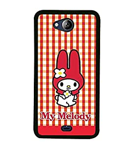 Fuson Premium 2D Back Case Cover My Melody With White Background Degined For Micromax Canvas Play Q355