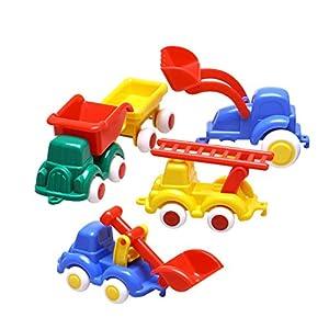 Viking Toys 1347 Playset Cars (Peterkin 1347) - Set de 5 vehículos de juguete de plástico (no necesita pilas)
