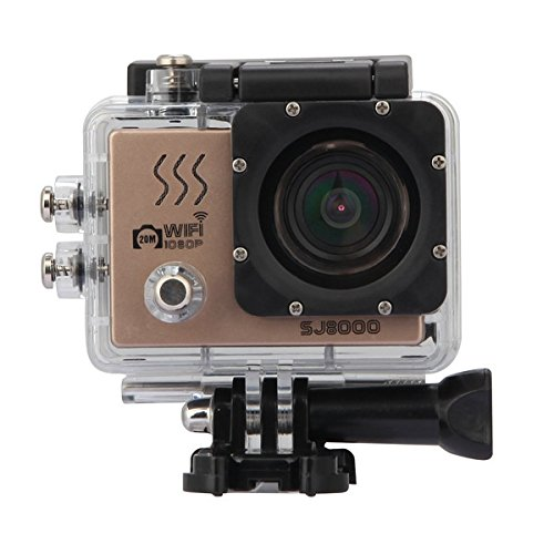 Price comparison product image FeLiCia SJ8000 Sport Action Camera Moving WIFI 1080P Full HD CMOS 170 Degree Waterproof 40m - Gold