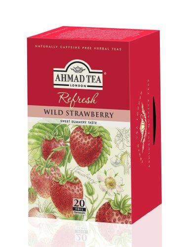 Ahmad Tea – Wild Strawberry | Früchtetee mit Erdbeergeschmack | 20 Teebeutel á 2 g mit Band