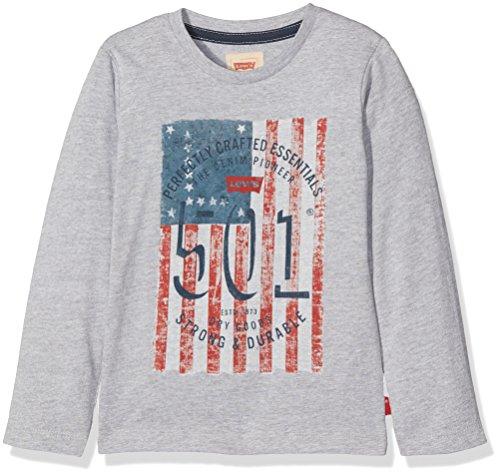 Levi's ls tee flagg, t-shirt bambino, grigio (gris clair chine 22), 6 anni (taglia produttore: 6a)