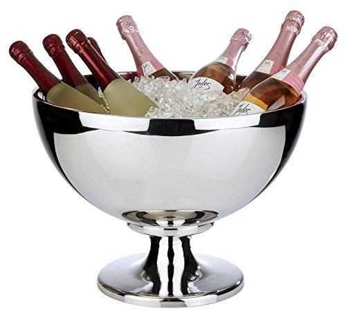 APS Champagnerkühler -CHAMPION- aus Edelstahl mit einem Ø von 44 cm und 32 cm Höhe (Edelstahl Kühler Trinken)