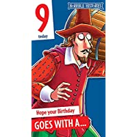 "Horrible Histories""Guy Fawkes"" Age 9 Birthday Card"