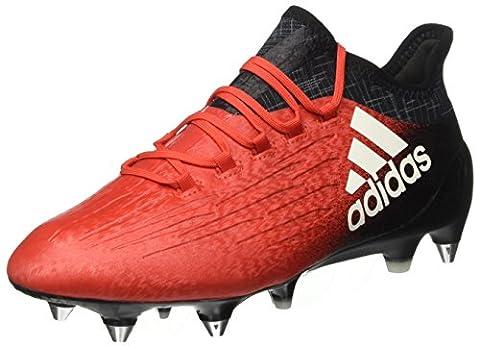 Adidas Herren Fußballschuhe für Fußballtrainingsschuhe X 16.1 SG, Rot (Rojo/ftwbla/negbas),