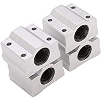 HICTOP 4PCS Linear Motion-Kugellager CNC SCS8UU Schlitteneinheit Buchse Linearrollenlager Gleitblock