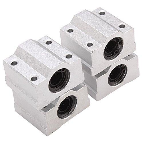 HICTOP 4PCS bolas de movimiento lineal Teniendo CNC SCS8UU Slide Unidad de rodamiento lineal de rodillos cojinete de deslizamiento del bloque