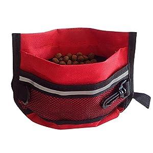 Sijueam Pochette Friandises et Clicker Dressage de Chien Éducation Comportement poche avec Crochet pour Chasse Balade Promenade