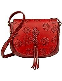 Hidesign Women's Handbag (D Red)