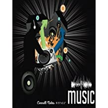 """Music Cornell Notes 8.5""""x11"""": Music Sheets, Pages, Notes Taking System Manuscript, Staff Paper, 12 Staves Per Pages with 5 Lines, Music Composition ... 150 Pages, Large 8.5""""x11"""" Paperback A4 Size"""