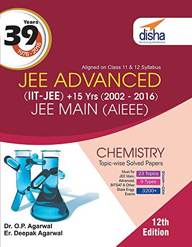 39 Years IIT-JEE Advanced + 15 yrs JEE Main Topic-wise Solved Paper Chemistry with Free eBook
