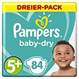 Pampers Baby-Dry Windeln, Gr.5+, für Atmungsaktive Trockenheit, 84 Stück