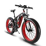Extrbici XF800 1000W 48V 13AH Fett-Reifen-Elektro-Bike 26 'Aluminium-Legierung Rahmen Full Suspension Fett Bike Cruiser 7 Geschwindigkeiten Shimano Shift System