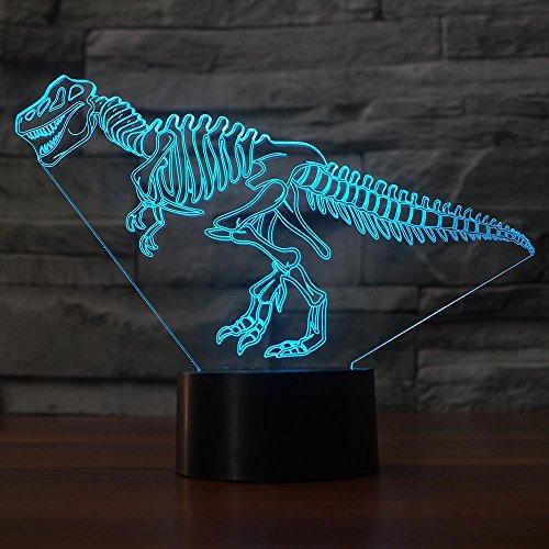 orangeww 3D Dinosaurier Nachtlicht LED Elefanten lampe USB 7 Farben Bunte Hund Leuchte Ändern Schlafzimmer Beleuchtung Dekor Kid'S Spielzeug geschenke -