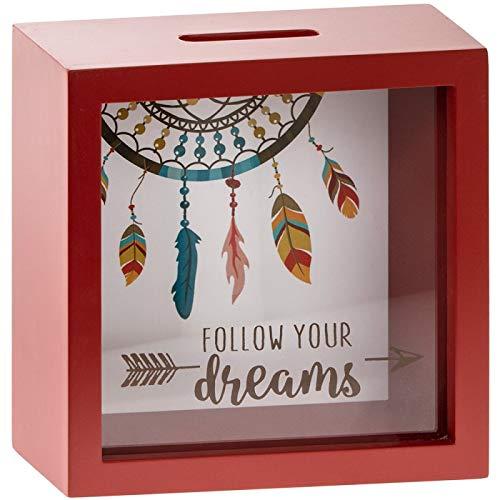 MONEY BOX Caja Dinero Cuadrada Seguir Tus sueños