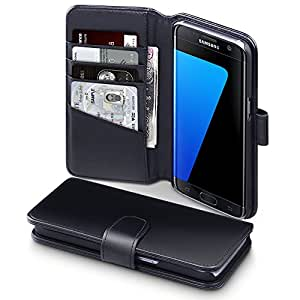 Galaxy S7 Edge Case, Terrapin Étui Housse en Cuir Véritable pour Samsung Galaxy S7 Edge Coque