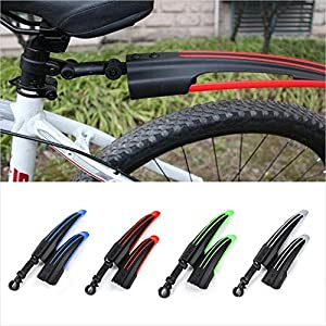 VEQSKING Bike Mud Guard Fender Set Plastic Easy Install Front+Rear Mudguards for Mountain Bike MTB