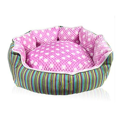 Liuyu · Casa de la Vida Octagonal Pet Nest Four Seasons Universal Lavable Redondo Pequeño y Mediano...