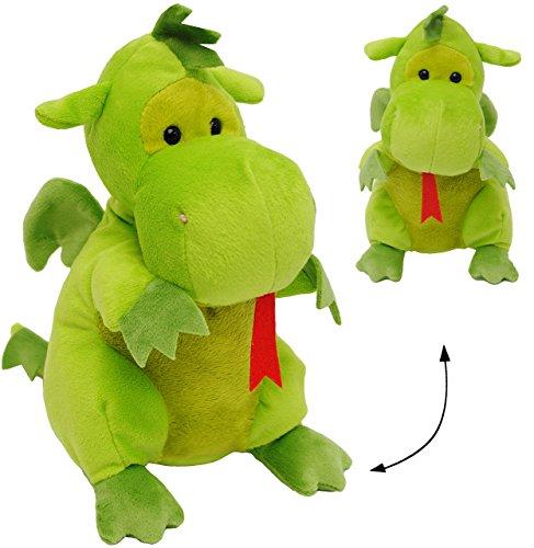 """großes Plüschtier - """" grüner Drache / Dinosaurier """" - 30 cm - superweich - Stofftier / Drachen - Plüschdrache - Dino / Urzeit - Kuscheltier Plüschdrachen - groß Knuddeltier - süßer Plüschdino - Schmusedino / Stoffpuppe - Plüschdinosaurier - Schmusetier - Schmusedino - Dinos / Stoffdino - grün - Plüschdrache / Dinos"""
