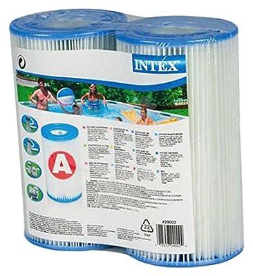 Intex 0775431 Cartouche de Filtre pour Piscine Bleu 10,8 x 21,6 x 20,3 cm - lot de 2