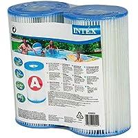 Intex 29002 Cartuccia Filtro, Confezione da 2 Pezzi, Grigio, 21.59 x 20.32 x 10.8 cm