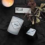 HANHAIBO Aromatherapie Kerzen Hand Geschenke Duftkerzen 14 Unzen Zeder Vanille (Schwarze Flasche)