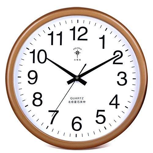 ung Wanduhr Home Office Decor für Wohnzimmer Schlafzimmer und Küche Uhr Wanduhr Tischkalender Stumm Quartz14 In Gold Kalender (Farbe : The Golden Plain, Größe : 14 In.) ()