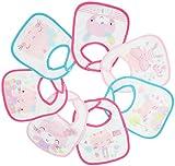 Rock a Bye Baby - 7er-Pack Baby Lätzchen aus Frottee mit Klettverschluss für Mädchen