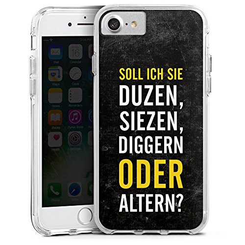 Apple iPhone 6s Plus Bumper Hülle Bumper Case Glitzer Hülle Humor Lustig Funny Bumper Case transparent