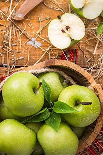 Carnet de Notes: Petit journal personnel de 121 pages blanches avec couverture « Pommes Vertes » par Virginie Polissou